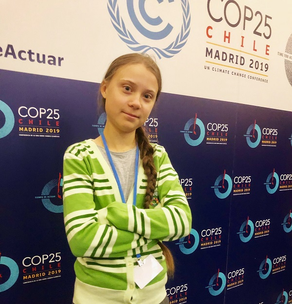 Greta Thunberg at UN Climate Change Conference