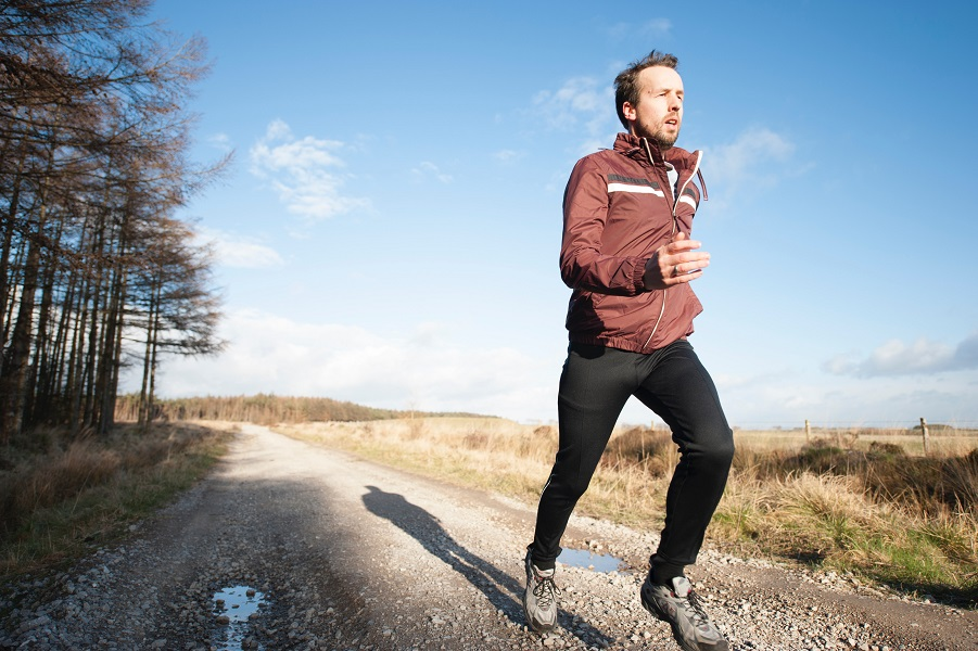Man jogging to become healthy